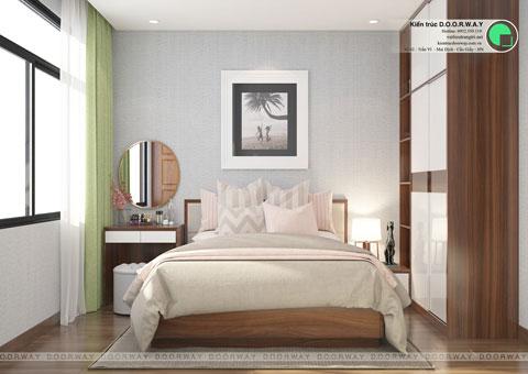 Thiết kế nội thất biệt thự 3 tầng 180m2 tại KĐT Việt Hưng nhà anh Tuấn by kiến trúc Doorway, phòng con gái tầng 2 góc 02