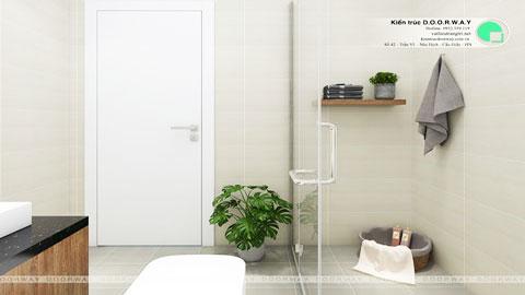 Thiết kế nội thất nhà vệ sinh 2m2 tại Ecohome nhà chị Hà by kiến trúc Doorway wc chung góc ảnh tiêu biểu