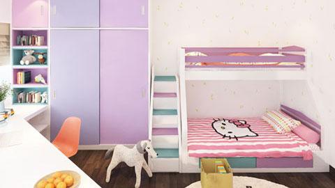 Thiết kế phòng ngủ đôi cho 2 bé 15m2 nhà anh Đông by kiến trúc Doorway ảnh tiêu biểu