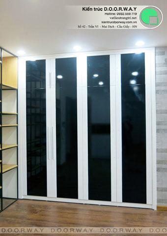 Thi công nội thất chung cư CT4 Vimeco nhà anh Thế Anh 95m2 by kiến trúc Doorway phòng khách góc 04