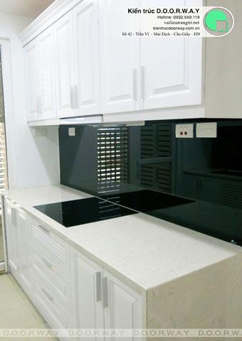 Thi công nội thất chung cư CT4 Vimeco nhà anh Thế Anh 95m2 by kiến trúc Doorway phòng khách góc 09