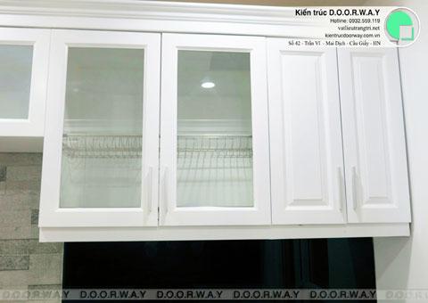 Thi công nội thất chung cư CT4 Vimeco nhà anh Thế Anh 95m2 by kiến trúc Doorway phòng khách góc 10