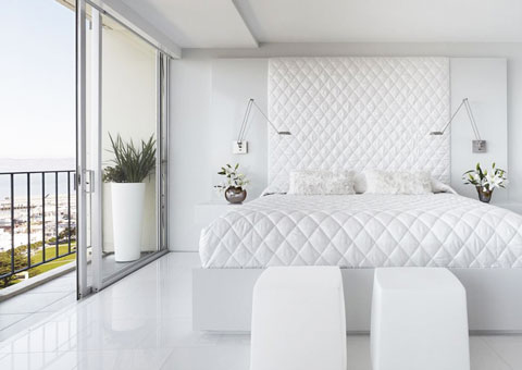 Thiết kế nội thất phòng cưới màu trắng by kiến trúc Doorway st góc 06