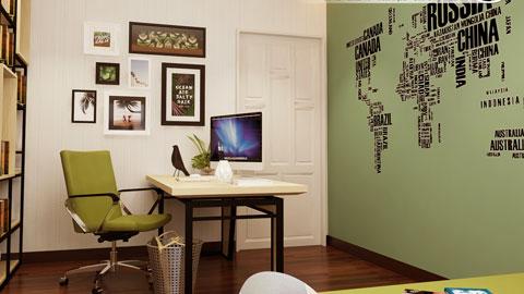 Nội thất phòng đọc sách 12m2 nhà anh Việt Lĩnh Nam by kiến trúc Doorway, thiết kế phòng đọc sách ảnh tiêu biểu