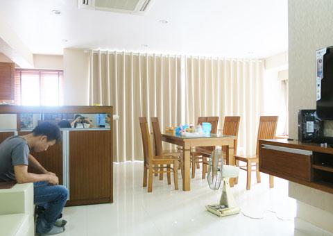Thiết kế & thi công nội thất chung cư 95m2, chung cư Meco Complex 102 Trường Chinh nhà anh Thắng by kiến trúc Doorway phòng khách, phòng bếp góc 04