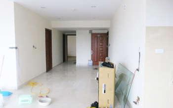 Thiết kế & thi công nội thất chung cư 95m2, chung cư Meco Complex 102 Trường Chinh nhà anh Thắng by kiến trúc Doorway phòng khách, phòng bếp góc 19