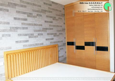 Thi công nội thất chung cư CT4 Vimeco nhà anh Thế Anh 95m2 by kiến trúc Doorway phòng ngủ master góc 04