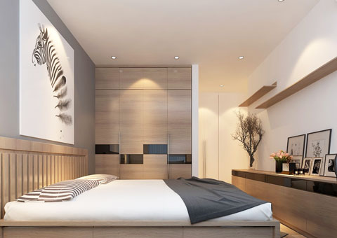 Thi công nội thất chung cư CT4 Vimeco nhà anh Thế Anh 95m2 by kiến trúc Doorway phòng ngủ master góc 03