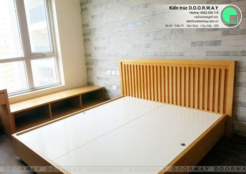 Thi công nội thất chung cư CT4 Vimeco nhà anh Thế Anh 95m2 by kiến trúc Doorway phòng ngủ master góc 06