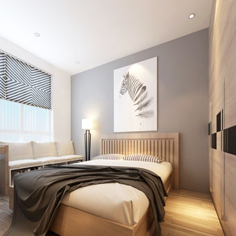 Thi công nội thất chung cư CT4 Vimeco nhà anh Thế Anh 95m2 by kiến trúc Doorway phòng ngủ master góc 05