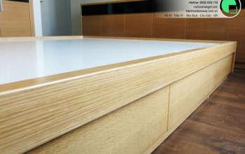 Thi công nội thất chung cư CT4 Vimeco nhà anh Thế Anh 95m2 by kiến trúc Doorway phòng ngủ master góc 09
