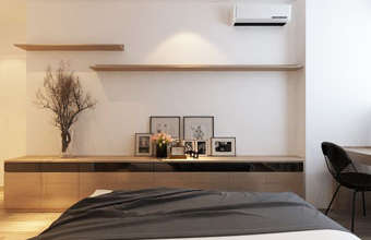 Thi công nội thất chung cư CT4 Vimeco nhà anh Thế Anh 95m2 by kiến trúc Doorway phòng ngủ master góc 10