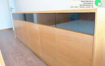 Thi công nội thất chung cư CT4 Vimeco nhà anh Thế Anh 95m2 by kiến trúc Doorway phòng ngủ master góc 11