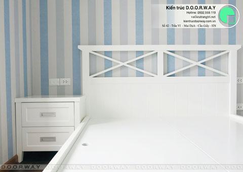 Thi công nội thất chung cư CT4 Vimeco nhà anh Thế Anh 95m2 by kiến trúc Doorway phòng ngủ con góc 06