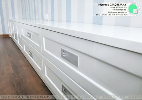 Thi công nội thất chung cư CT4 Vimeco nhà anh Thế Anh 95m2 by kiến trúc Doorway phòng ngủ con góc 08