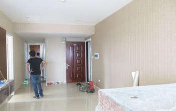 Thiết kế & thi công nội thất chung cư 95m2, chung cư Meco Complex 102 Trường Chinh nhà anh Thắng by kiến trúc Doorway thi công giấy dán tường góc 01