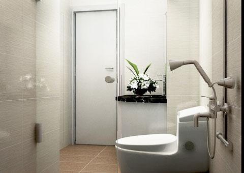 Thiết kế 2 nhà vệ sinh cạnh nhau, thiết kế nhà vệ sinh tại chung cư Intracom nhà chị Hải by kiến trúc Doorway, góc 04 wc phòng khách