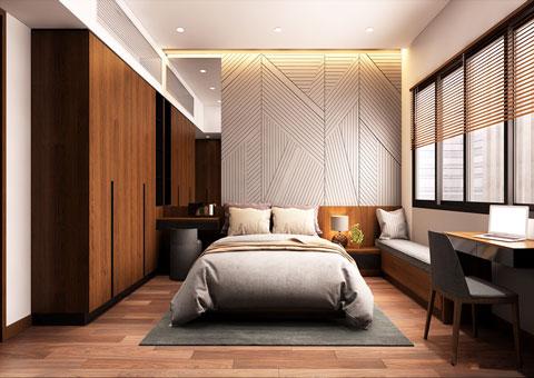 Thiết kế nội thất phòng cưới đẹp 1 phong cách hiện đại by kiến trúc Doorway st 01