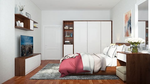 Thiết kế nội thất phòng cưới hiện đại 20m2 nhà cô Nhàn tại Mai Dịch by kiến trúc Doorway ảnh tiêu biểu
