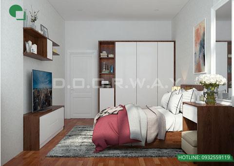 Thiết kế nội thất phòng cưới hiện đại 20m2 nhà cô Nhàn tại Mai Dịch by kiến trúc Doorway góc 02