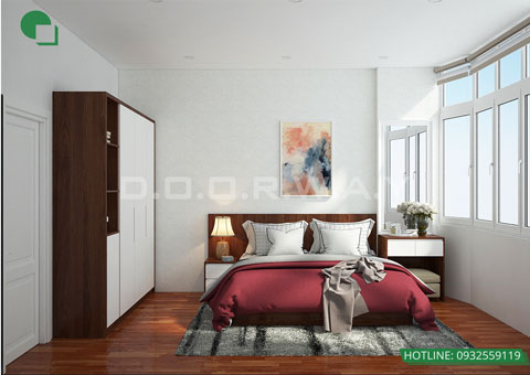 Thiết kế nội thất phòng cưới hiện đại 20m2 nhà cô Nhàn tại Mai Dịch by kiến trúc Doorway góc 03