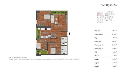 Thiết kế nội thất căn hộ 3 phòng ngủ CH-3A chung cư Manhattan Tower by kiến trúc Doorway, ảnh tiêu biểu