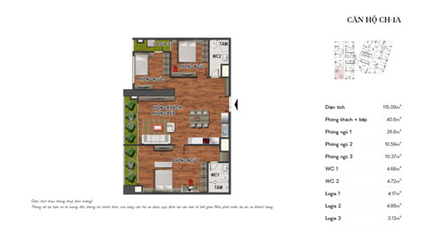 Thiết kế nội thất căn hộ 3 phòng ngủ CH-1A chung cư Manhattan Tower by kiến trúc Doorway, ảnh tiêu biểu