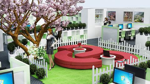 Thiết kế nội thất văn phòng tổ chức Actionaid 600m2, by kiến trúc Dooway, ảnh tiêu biểu 02