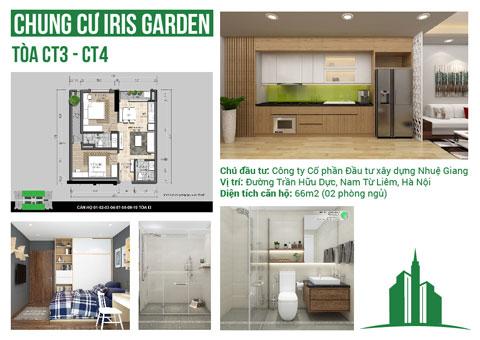 Thiết kế nội thất căn hộ 2 phòng ngủ CT3, CT4 66m2 chung cư Iris Garden, by kiến trúc Doorway, ảnh tiêu biểu