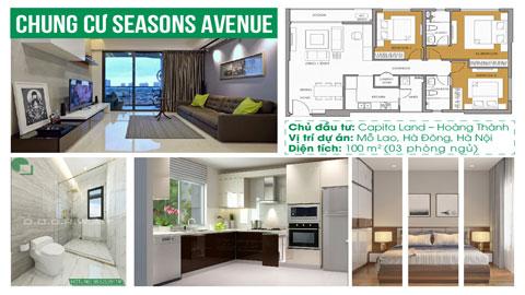 Thiết kế nội thất căn hộ 3 phòng ngủ B106 tòa S1 chung cư Seasons Avenue by kiến trúc Doorway, ảnh tiêu biểu
