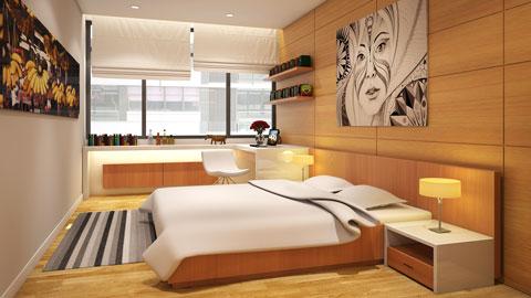 Thiết kế nhà chung cư 2 phòng ngủ tại chung cư Dolphin Plaza nhà anh Tĩnh, by kiến trúc Doorway, ảnh tiêu biểu