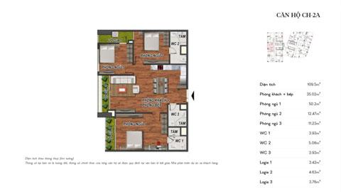 Thiết kế nội thất căn hộ 3 phòng ngủ CH-2A chung cư Manhattan Tower by kiến trúc doorway, ảnh tiêu biểu