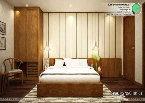 Thiết kế nội thất biệt thự cho thuê 600m2 tại FLC Sầm Sơn nhà anh Dương chị Liên, by kiến trúc Doorway, thiết kế phòng ngủ 101 góc 01