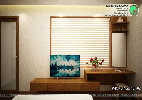 Thiết kế nội thất biệt thự cho thuê 600m2 tại FLC Sầm Sơn nhà anh Dương chị Liên, by kiến trúc Doorway, thiết kế phòng ngủ 101 góc 02