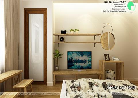 Thiết kế nội thất biệt thự cho thuê 600m2 tại FLC Sầm Sơn nhà anh Dương chị Liên, by kiến trúc Doorway, thiết kế phòng ngủ 103 góc 02
