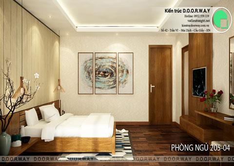 Thiết kế nội thất biệt thự cho thuê 600m2 tại FLC Sầm Sơn nhà anh Dương chị Liên, by kiến trúc Doorway, thiết kế phòng ngủ 205