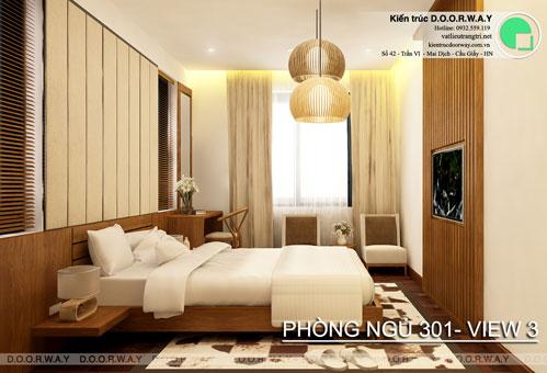 Thiết kế nội thất biệt thự cho thuê 600m2 tại FLC Sầm Sơn nhà anh Dương chị Liên, by kiến trúc Doorway, thiết kế phòng ngủ 301