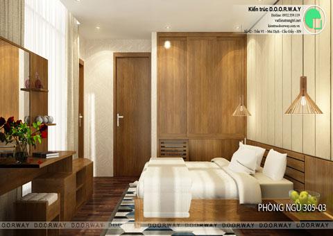 Thiết kế nội thất biệt thự cho thuê 600m2 tại FLC Sầm Sơn nhà anh Dương chị Liên, by kiến trúc Doorway, thiết kế phòng ngủ 305