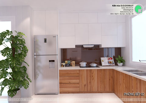 Thiết kế nội thất biệt thự cho thuê 600m2 tại FLC Sầm Sơn nhà anh Dương chị Liên, by kiến trúc Doorway, thiết kế phòng bếp góc 01