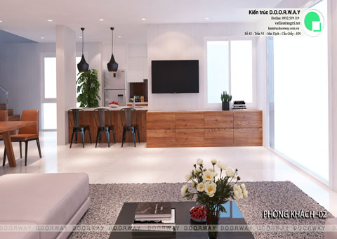 Thiết kế nội thất biệt thự cho thuê 600m2 tại FLC Sầm Sơn nhà anh Dương chị Liên, by kiến trúc Doorway, thiết kế phòng khách góc 02
