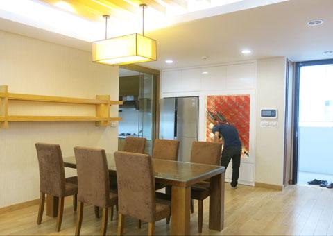 Thi công phòng bếp chung cư Dolphin Plaza nhà anh Tĩnh by kiến trúc Doorway, góc 02