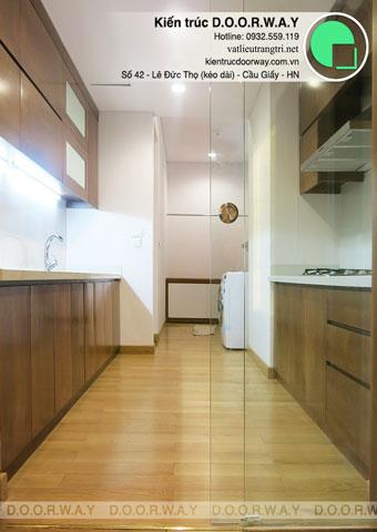 Thi công phòng bếp chung cư Dolphin Plaza nhà anh Tĩnh by kiến trúc Doorway, góc 03