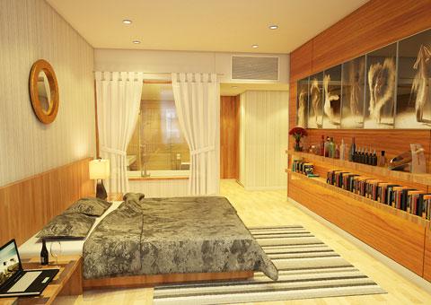 Thiết kế nhà chung cư 2 phòng ngủ tại chung cư Dolphin Plaza nhà anh Tĩnh, by kiến trúc Doorway, phòng ngủ master 02