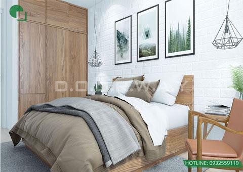 Thiết kế nội thất phòng cưới phong cách Scandinavian nhà anh Dương by kiến trúc Doorway, góc 01