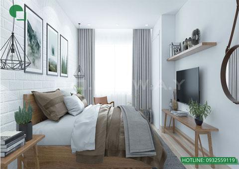 Thiết kế nội thất phòng cưới phong cách Scandinavian nhà anh Dương by kiến trúc Doorway, góc 04
