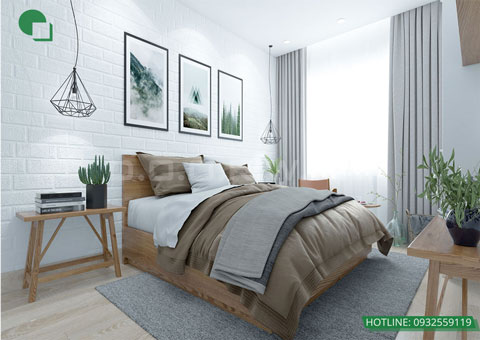 Thiết kế nội thất phòng cưới phong cách Scandinavian nhà anh Dương by kiến trúc Doorway, góc 06