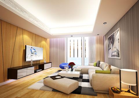 Thi công nội thất phòng khách nối liền phòng ăn 50m2 Mr Tĩnh chung cư Dolphin Plaza by kiến trúc Doorway, góc 02