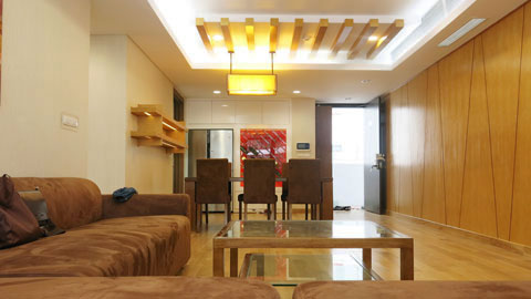 Thi công nội thất phòng khách nối liền phòng ăn 50m2 Mr Tĩnh chung cư Dolphin Plaza by kiến trúc Doorway, ảnh tiêu biểu
