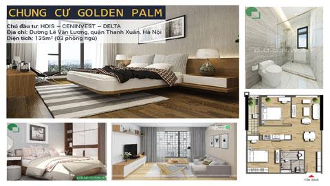Thiết kế nội thất căn hộ 2 phòng ngủ A06 chung cư Golden Palm by kiến trúc Doorway ảnh tiêu biểu