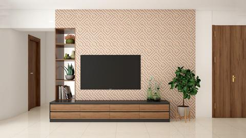 Các mẫu kệ tivi đẹp bằng gỗ cho phòng khách by kiến trúc Doorway ảnh tiêu biểu